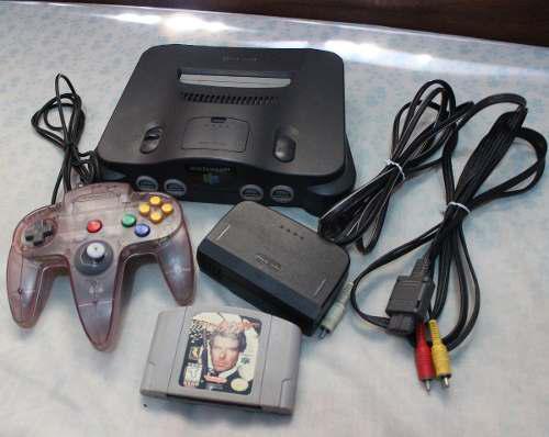 Nintendo 64 +1 Control + Juego James Bond Golden Eye
