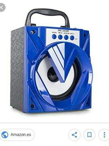 Radio Portatil Con Usb Con Bluetooth Micro Sd Recargab