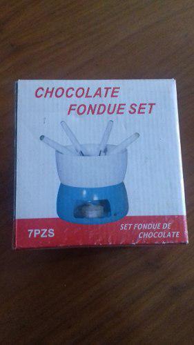 Set De Fondue 7 Piezas Para Chocolate Importada