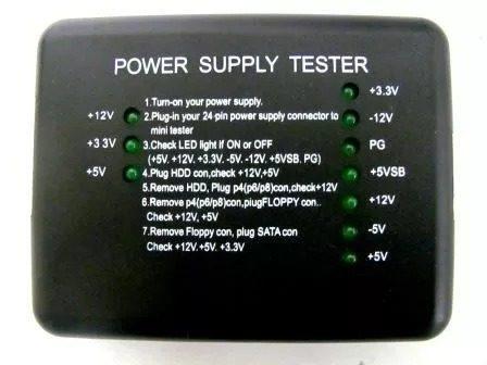 Tester Power Supply Pc Led  Pin Psu Atx Sata Hdd