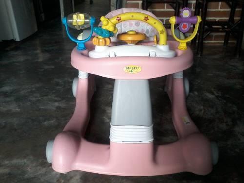 Andadera Para Niñas Multifuncional 3 En 1 Master Kids