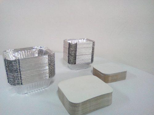 Envases De Aluminio Con Tapa Para Comidas #420-45(x Docena)