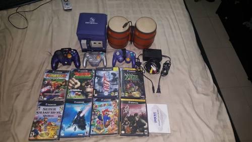 Gamecube Original Indigo + 4 Controles +15 Juegos(melee,etc)