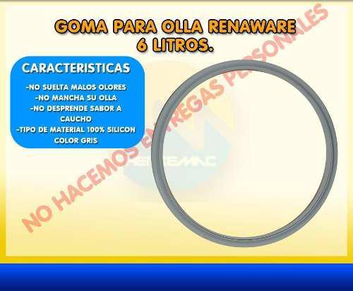 Goma Rena Ware Olla 4 A 6 Litros 100% Silicon