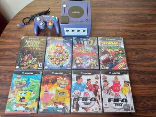 Nintendo Gamecube Combo 8 Juegos + Control + Memoria