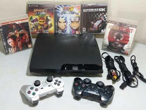 Playstation 3 Slim 160gb 2 Controles 7 Juegos