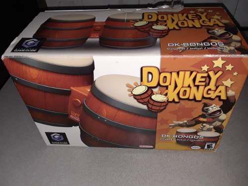 Donkey Kong Bongos Con Dos Juegos / Nintendo Gamecube Wii