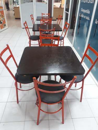 Juego De Mesas Y Sillas Para Restaurante