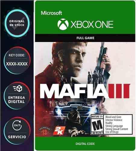 Mafia Iii Xbox One Codigo Digital Juega Online