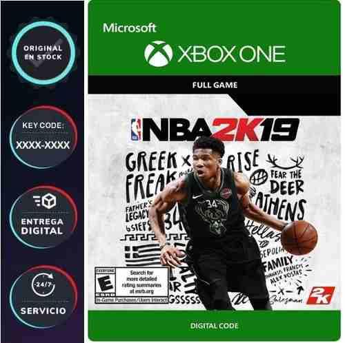 Nba 2k19 Videojuego Xbox One / Código Digital Juega Online