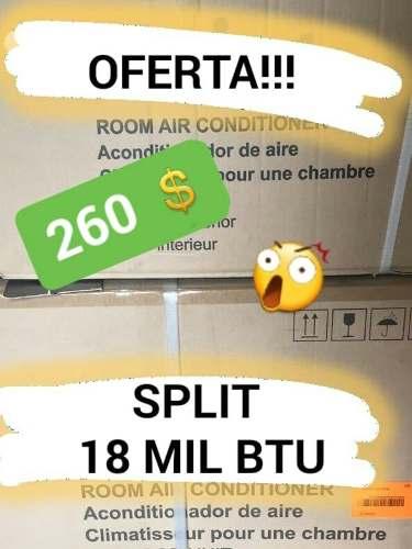 Oferta!!!!! Aire Acondicionado Nuevo Split 18 Mil Btu