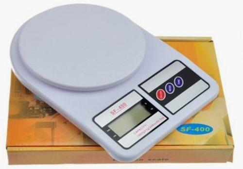Peso Balanza Cocina Comida Sf-400 10kg Portatil Digital Cal