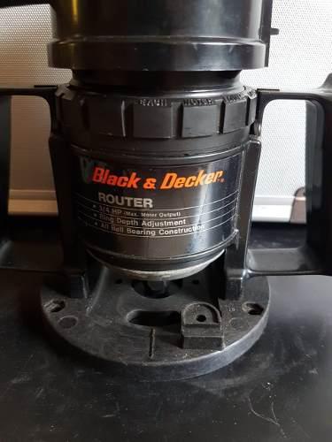 Trompo Router Para Carpintería Black And Decker 3/4 Hp