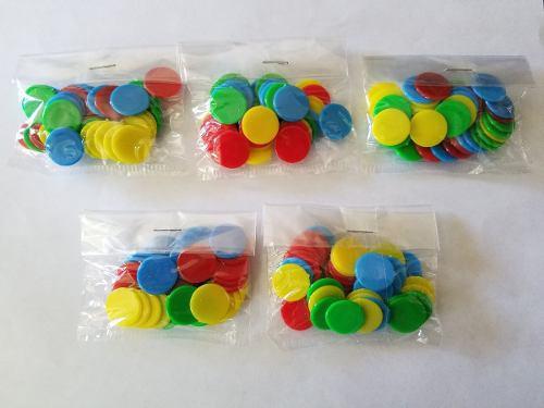Fichas De Colores Para Juegos De Mesa Paquete De 40 Unidades