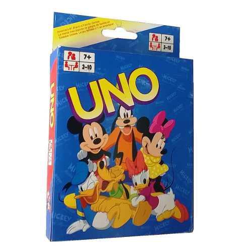Juego De Mesa Cartas Uno Mikey Mouse Disney Niña Niño R4