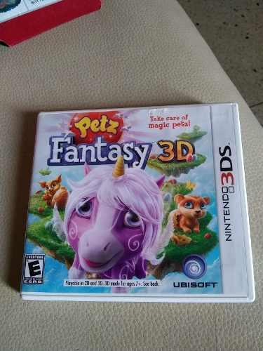 Juego Nintendo 3ds Petz Fantasy Niña Original