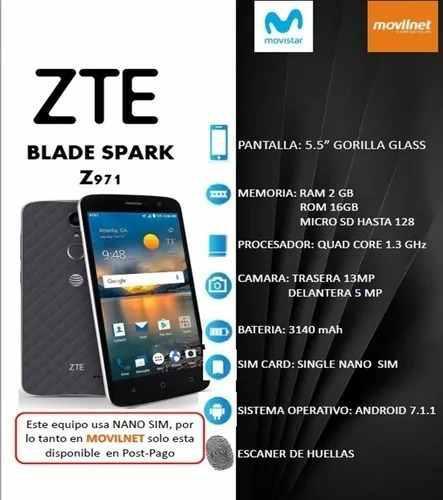 Teléfono Celular Zte Blade Spark, Lector De Huella