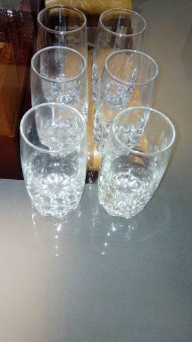 6 Vasos De Cristal De Bohemia