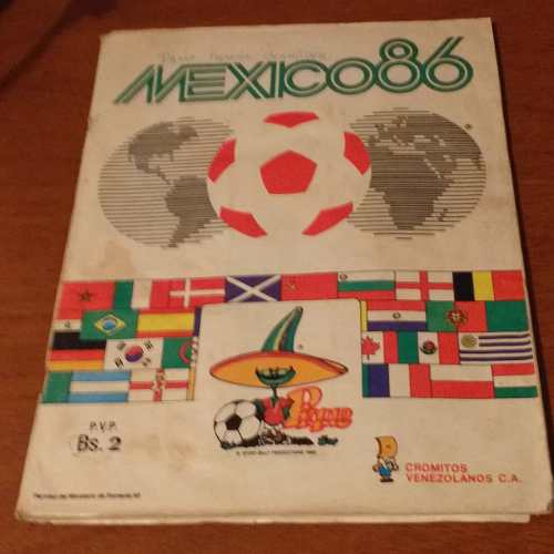 Album De Futbol Mundial Mexico 86