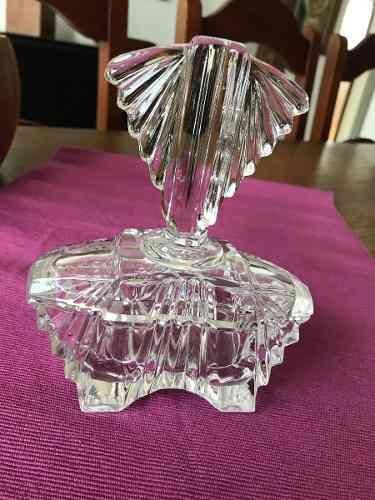 Decoración- Adorno-bombonera Antigua De Cristal Tallado