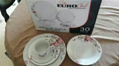 Juego De Vajilla De Ceramica Eurochef 30 Piezas Redonda