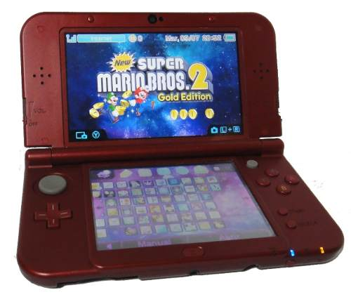 New Nintendo 3ds Xl Con Chip Virtual Cargador Oferta