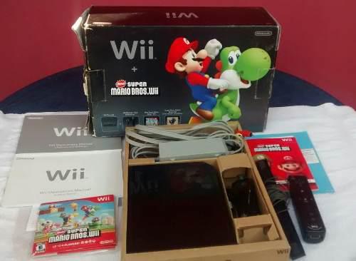 Nintendo Wii Súper Mario Bros Con Caja Y Accesorios