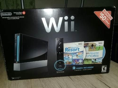 Nintendo Wii Sport Resort Negro Como Nuevo Día Del Niño