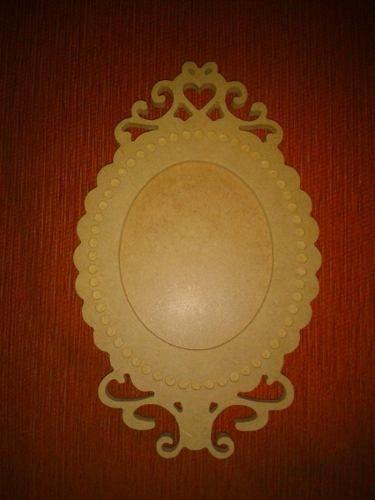 Portaretrato O Marco De Espejo Decorativo En Mdf Crudo