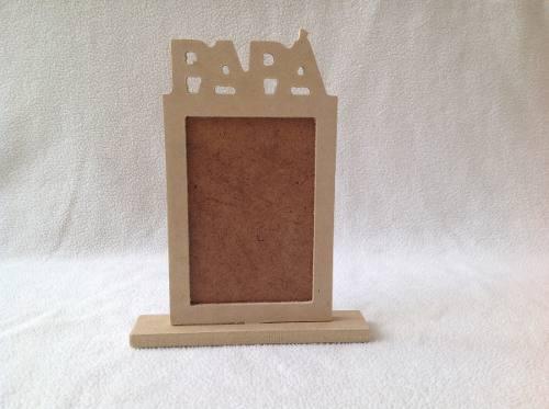 Portarretrato Especial Para Papa En Mdf Crudo 10x18cm