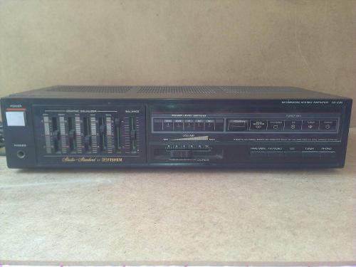Amplificador Stereo Ficher Modelo Ca-226 Deck Doble Y Plato
