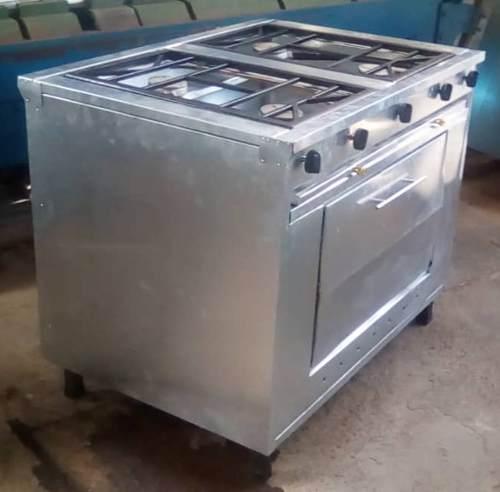 Cocina Industrial 4 Hornillas Con Horno