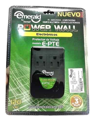 Protector Electronico Emerald 2 Tomas 120v Mod Epte