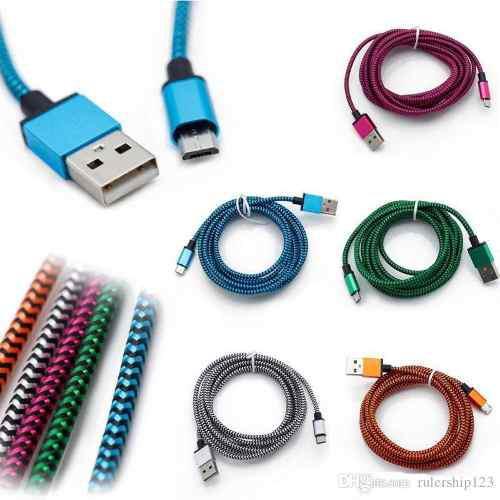 Cable Samsung Micro Usb De Nylon Reforzado Duradero 1 Metro