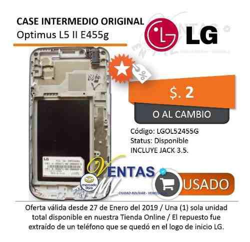 Carcasa Intermedia Lg Optimus L5 Duos E455g 2