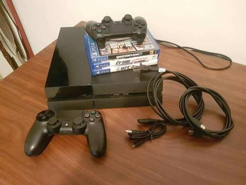 Playtation 4, 2 Controles Y 3 Juegos Originales