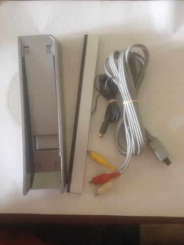 Cable De Audio Y Video, Barra Sensora Y Base Para Wii