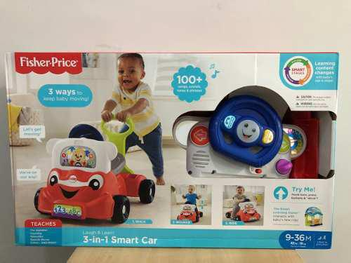 Fisher Price. 3 En 1 Smart Car. Bebe. Baby.