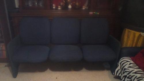 Mueble De 3 Puestos Tela Azul Marino