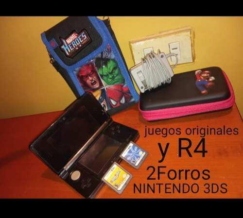 Nintendo 3ds Con Accesorios Y Juegos Originales
