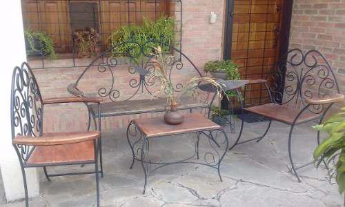 Juego De Muebles Hierro Forjado Para Patio O Jardin