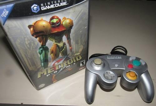 Metroid Prime Gamecube + Control Silver Original