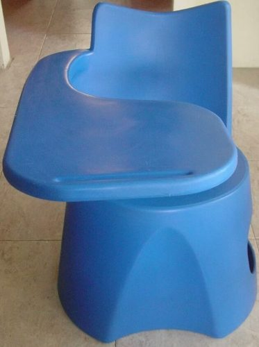 Pupitre Escolar Plástico Azul Qdesk