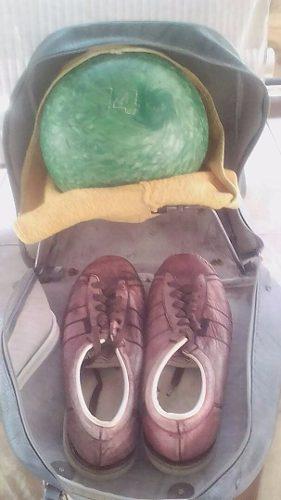 Zapatos De Bowling Brunswick Talla 40+ Pelota Nº 14 + Bolso