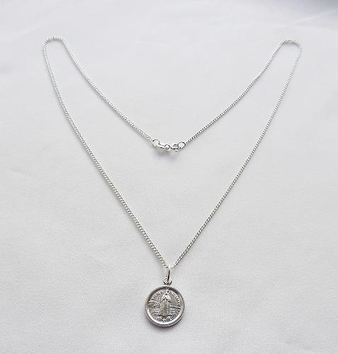 Cadena 45cm+ Medalla Virgen Del Valle Plata 925