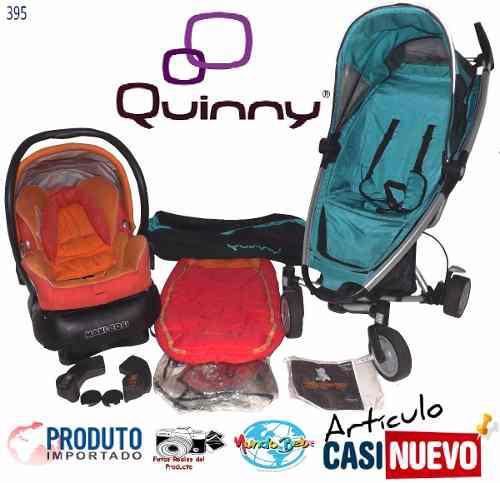 Coche 3 Ruedas Quinny Zapp Xtrax Con Portabebe Impecable.-