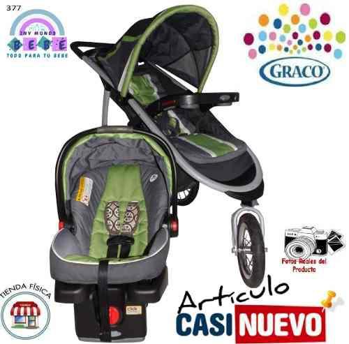 Coche Y Portabebe Graco Con Base De Carro Impecable.-