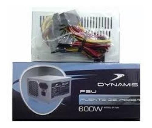 Fuente De Poder Atx 600w Dynamis 24 Pines Dy-600 A1226