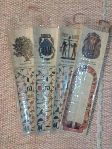 Juego De 4 Marcalibros De Papyros Originales Egipcios