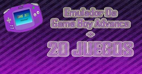 Emulador De Game Boy Advance + 25 Juegos